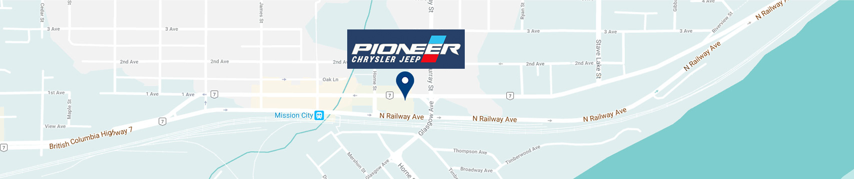 Pioneer Chrysler Jeep Map