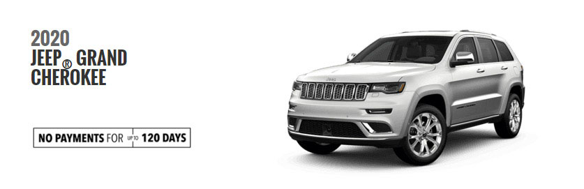 2020 Grand Cherokee models, No Payments for 120 Days